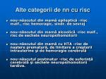 alte categorii de nn cu risc