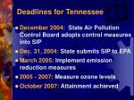 deadlines for tennessee1