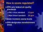 how is ozone regulated