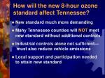 how will the new 8 hour ozone standard affect tennessee