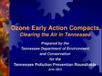 ozone early action compacts clearing the air in tennessee