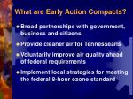 what are early action compacts