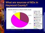 what are sources of nox in haywood county