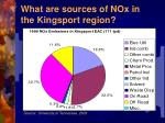 what are sources of nox in the kingsport region