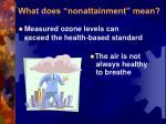 what does nonattainment mean