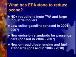 what has epa done to reduce ozone