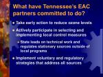what have tennessee s eac partners committed to do
