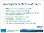 accomplishments next steps1