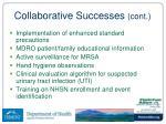 collaborative successes cont