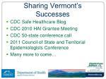 sharing vermont s successes