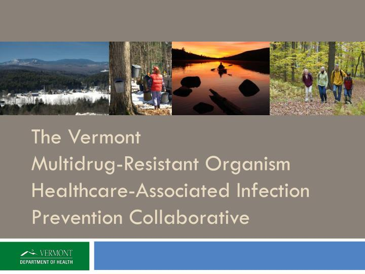 the vermont multidrug resistant organism healthcare associated infection prevention collaborative n.