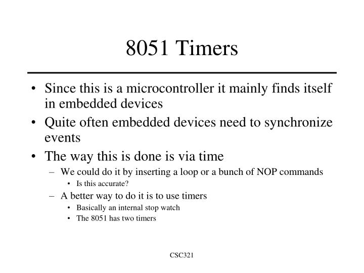 8051 timers