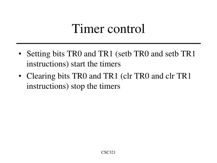 Timer control