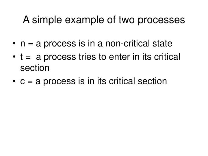 A simple example of two processes