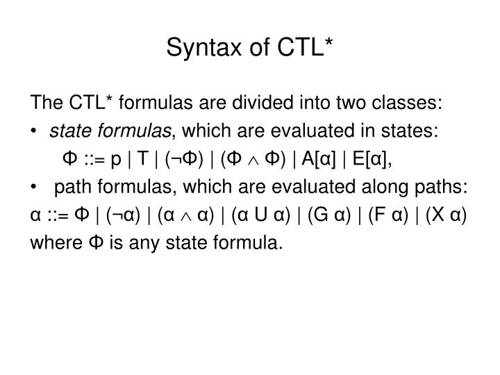 Syntax of CTL*