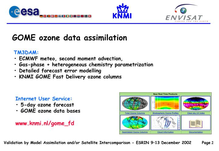 GOME ozone data assimilation