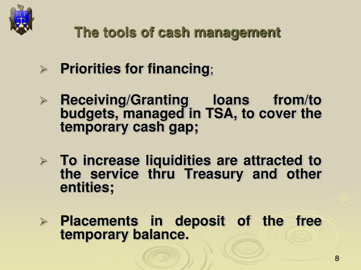The tools of cash management