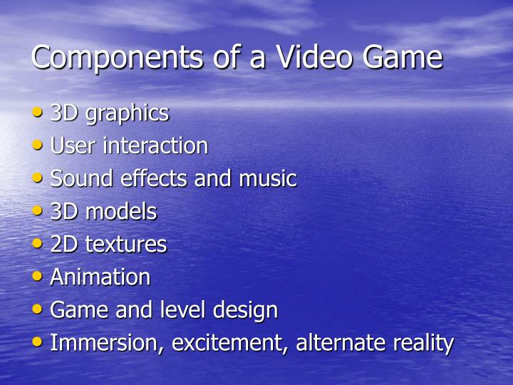 Components of a video game