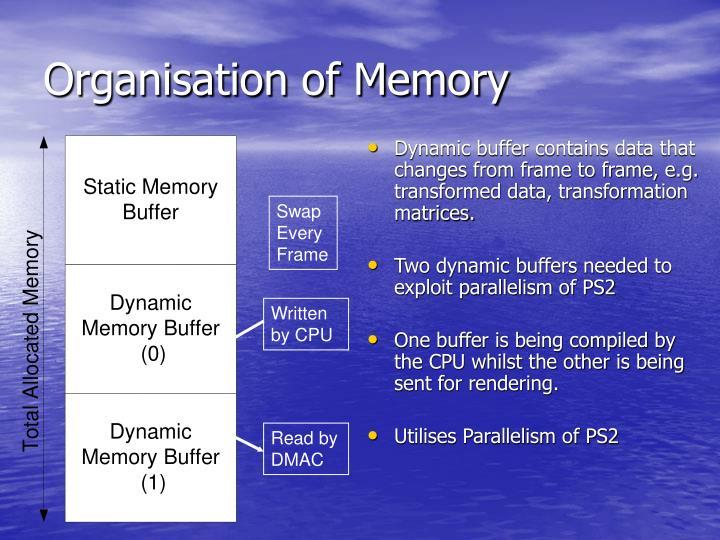 Organisation of Memory