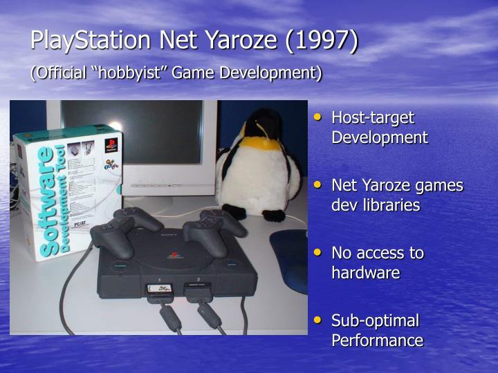 Playstation net yaroze 1997 official hobbyist game development