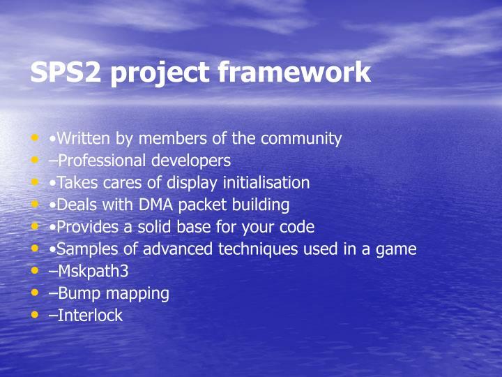 SPS2 project framework