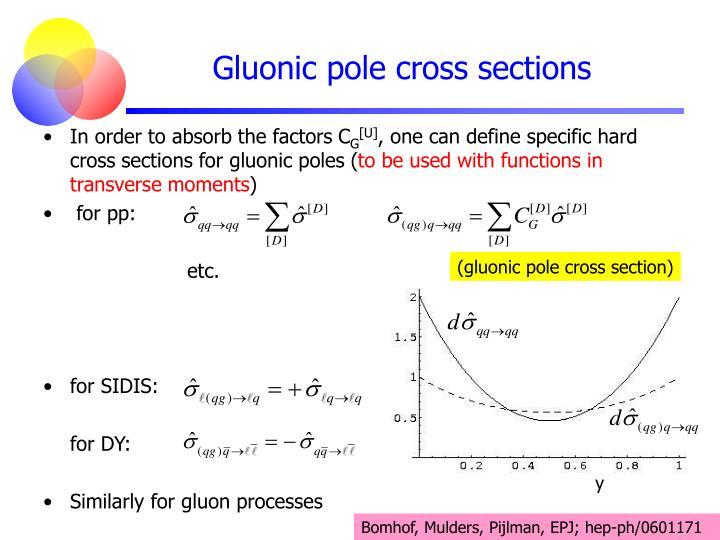(gluonic pole cross section)