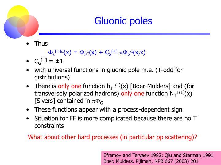 Gluonic poles