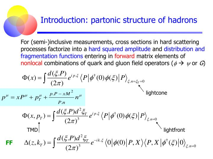 Introduction partonic structure of hadrons