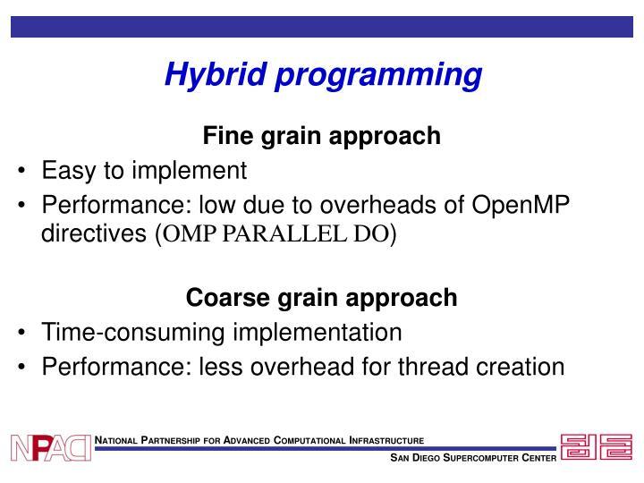 Hybrid programming