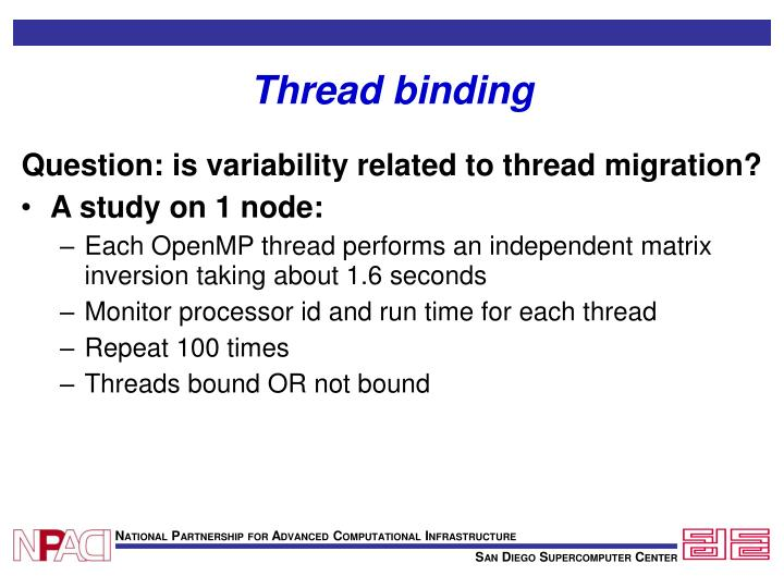 Thread binding