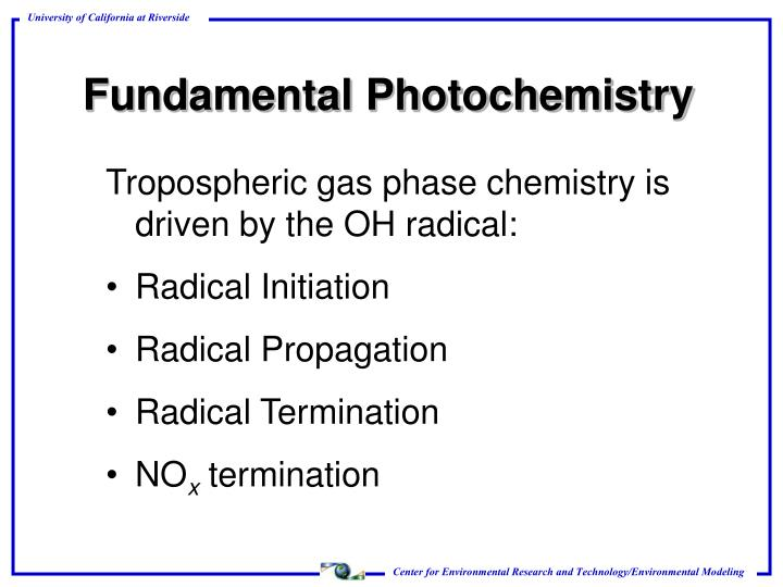 Fundamental Photochemistry