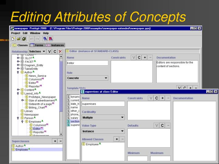 Editing Attributes of Concepts