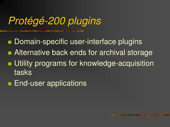 Protégé-200 plugins