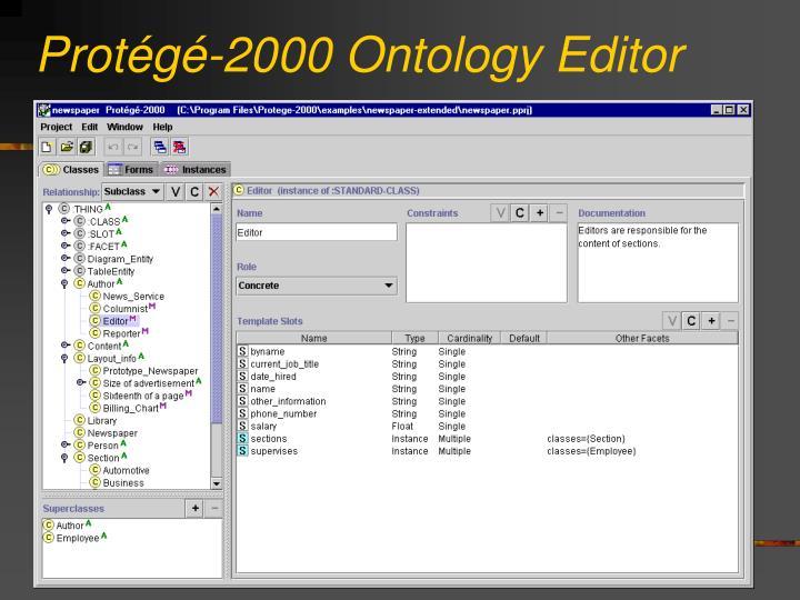 Protégé-2000 Ontology Editor