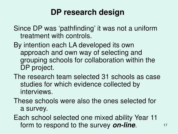 DP research design