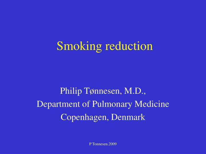 smoking reduction n.