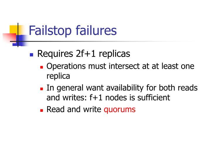 Failstop failures