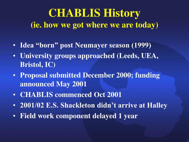Chablis history ie how we got where we are today