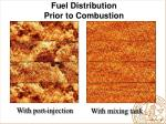 fuel distribution prior to combustion