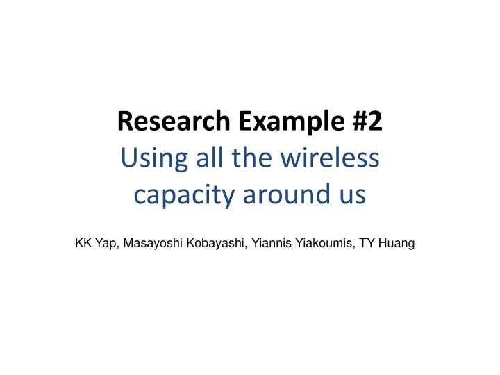 Research Example #2