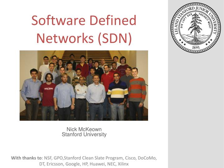 Software defined networks sdn