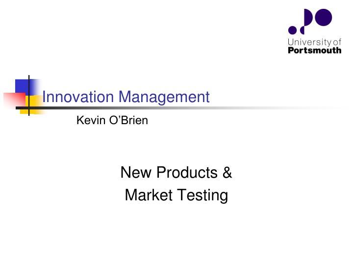 innovation management n.