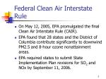federal clean air interstate rule