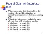 federal clean air interstate rule1