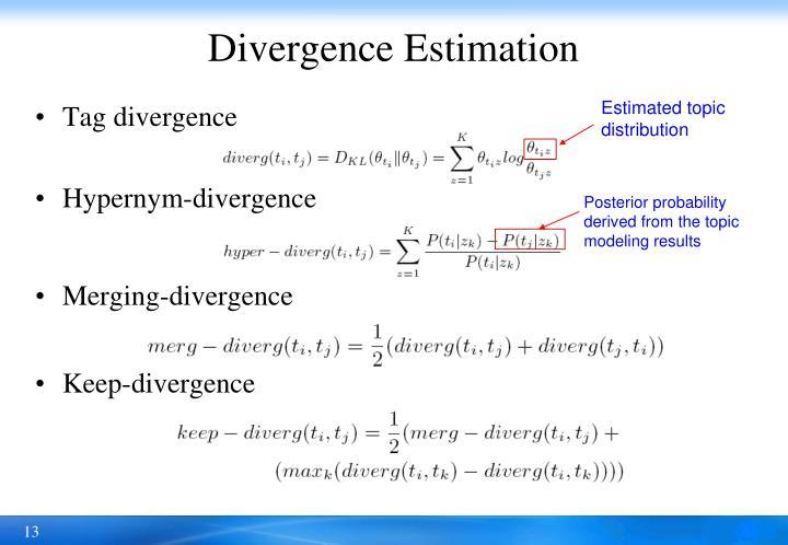 Divergence Estimation