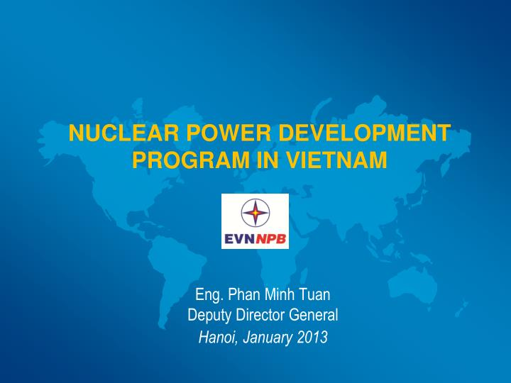 Nuclear power development program in vietnam