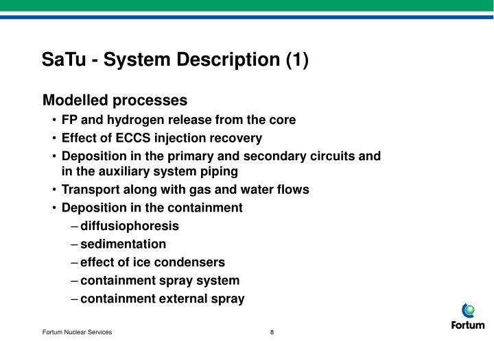 SaTu - System Description (1)