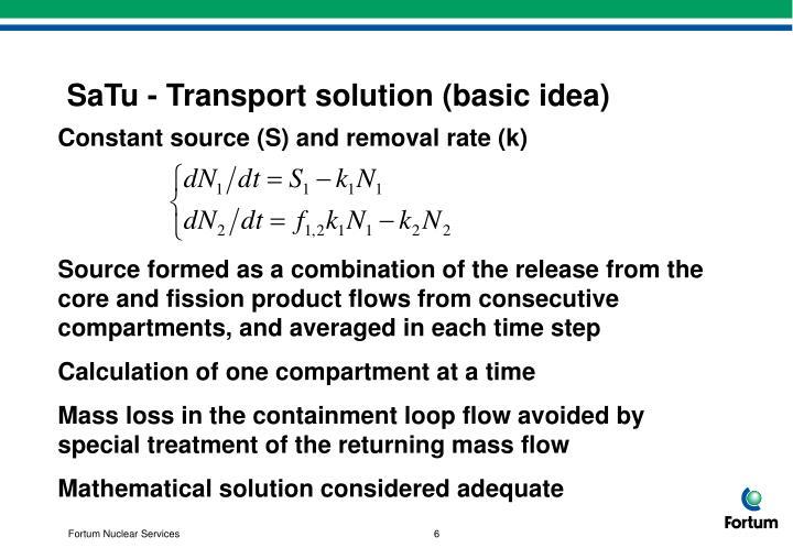 SaTu - Transport solution (basic idea)