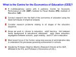 what is the centre for the economics of education cee