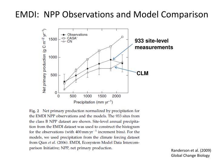 EMDI:  NPP Observations and Model Comparison